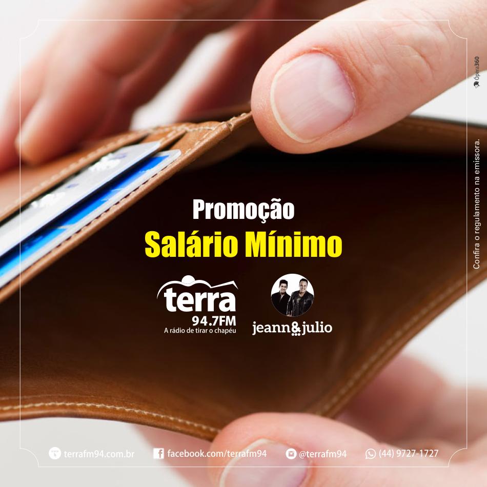 Banner Salário Mínimo Terra FM