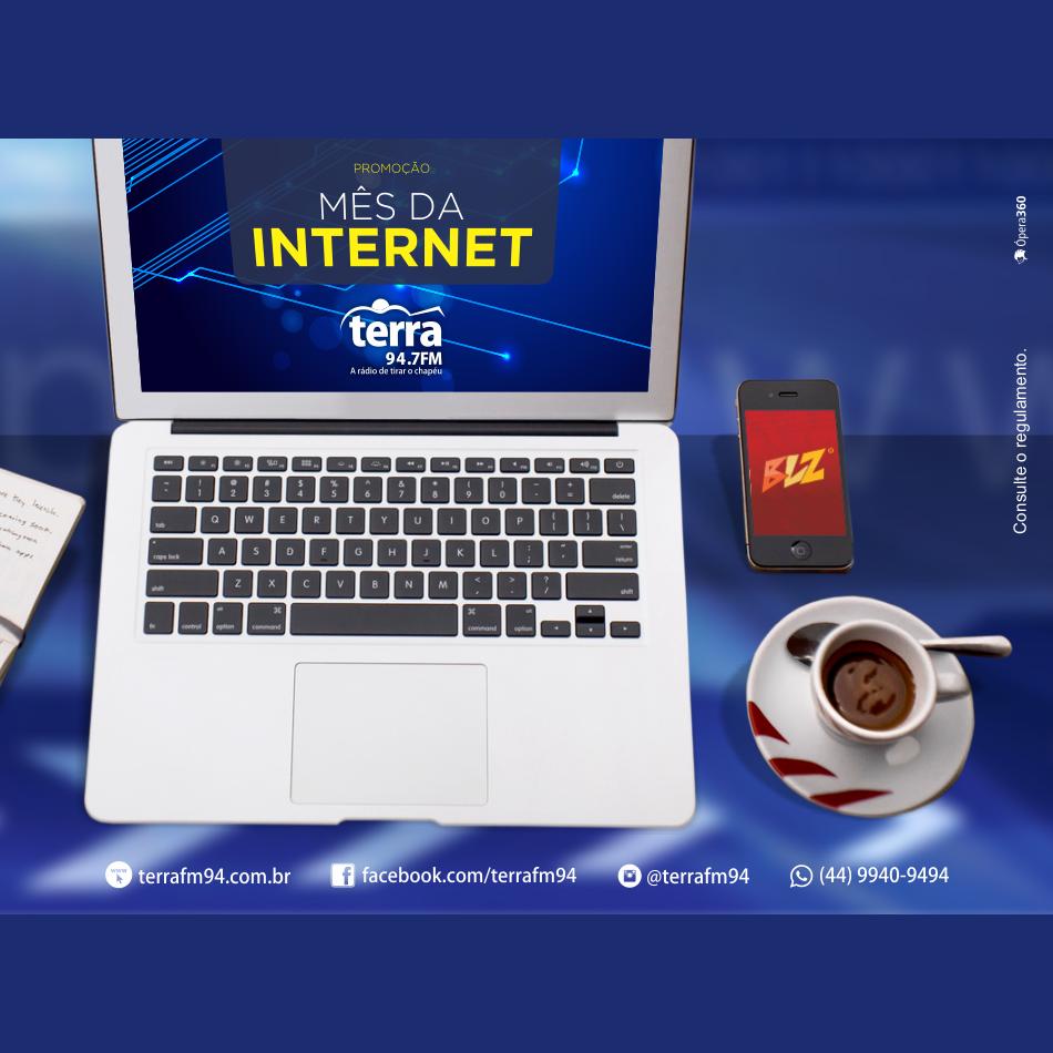 Banner Mês da Internet da Terra FM