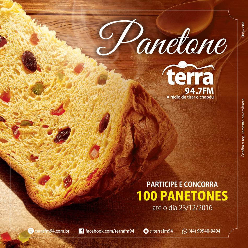 Banner Promoção Panetone Terra FM
