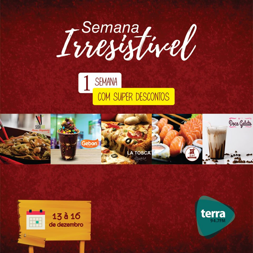 Banner Semana Irresistível Terra FM