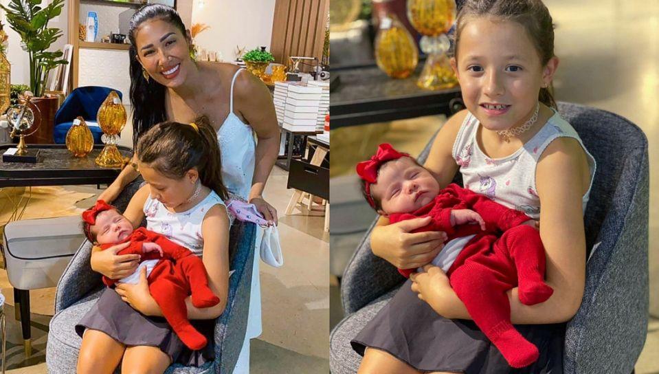Simaria conhece sobrinha, Zaya, e se emociona:  'Apaixonada'