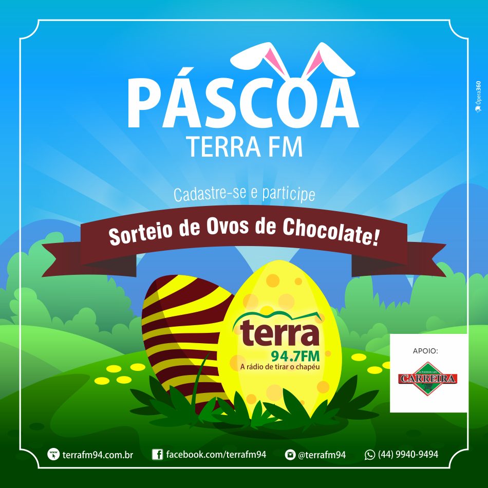 Banner Páscoa da Terra FM