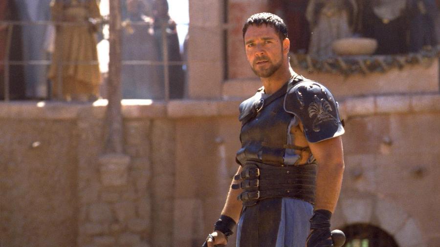 """Versão rejeitada de """"Gladiador 2"""" tinha Russell Crowe perseguindo Jesus Cristo."""