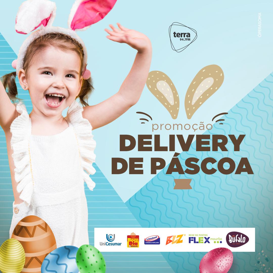 Banner Delivery de Páscoa Terra FM