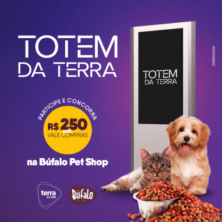R$ 250,00 NA BUFALO PET SHOP