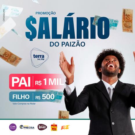 SALÁRIO DO PAIZÃO